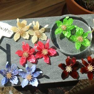 HP❤🎉NEW Handmade Earrings | Acrylic Resin Orchids